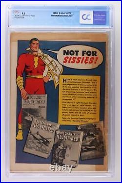 Whiz Comics #25 Fawcett 1941 CGC 4.0 1st App & Origin of Captain Marvel Jr