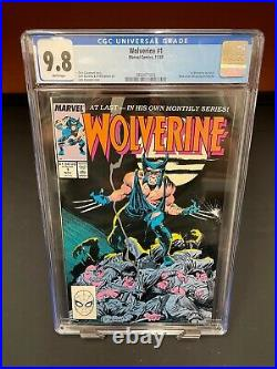 Wolverine 1 1988 Marvel CGC 9.8 White Pages Regular Series 1st App as Patch A