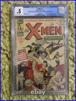 X-MEN 1 CGC 0.5 O/WHITE Pgs 1st App Cyclops, Jean Grey, Prof X 203240507