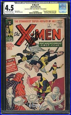 X-MEN 1 CGC 4.5 CONSERVED 1st App of Magneto, Professor X! SIGNED STAN LEE