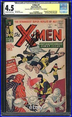 X-MEN 1 CGC 4.5 CONSERVED 1st App of Magneto, Professor X! SIGNED STAN LEE