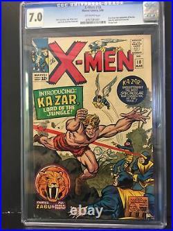 X-MEN #10 CGC 7.0 OW 1st app KA-ZARZABUSAVAGE LAND KIRBY & LEE