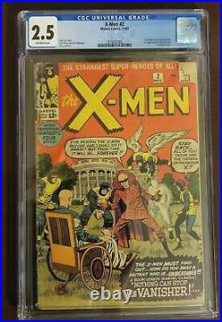 X-MEN #2 (Vanisher 1st app) CGC 2.5 (11/63) Rare KEY issue