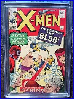 X-MEN #7 CGC VF- 7.5 OW-W Magneto app, 2nd app. Of the Blob