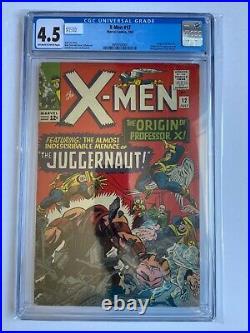 X-Men #12 CGC 4.5 1st App Juggernaut Origin Professor X 1965 Marvel Comics