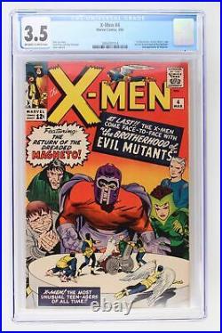 X-Men #4 Marvel 1964 CGC 3.5 1st App Quicksilver, Scarlet Witch & Toad