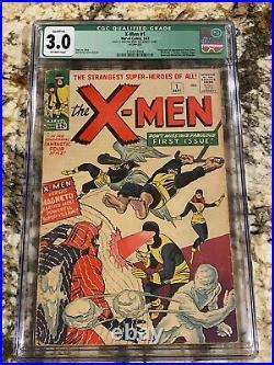 X-men #1 Cgc 3.0 Ow Pages Qualified Huge Marvel Mega Grail 1st App X-men Magneto
