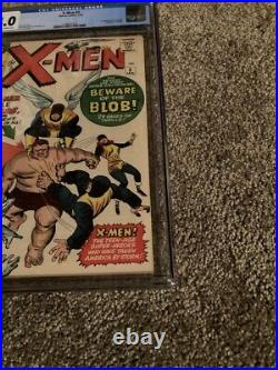 X-men #3 Cgc 4.0 Off White To White Pages 1st App. Of The Blob